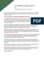 Cambia El Cálculo Del ISR Con Aplicación de Estímulos Fiscales