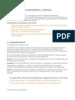 Tema 1 Lenguaje Periodístico y Literario.