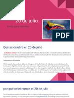 20 de Julio Emily Parra