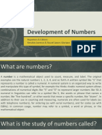 Development of Numbers