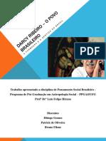 Darcy Ribeiro – O Povo Brasileiro Apresentação Seminário PENSAMENTO SOCIAL NO BRASIL