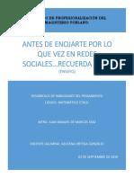Ensayo Redes Sociales