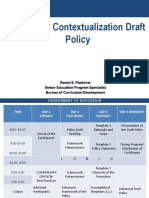 Curriculum Contextualualization Policy PPT.ppt