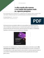 Brasileiros Com Alta Renda São Menos Tributados Que Na Média Dos Países Mais Industrializados, Aponta Pesquisa _ Economia _ G1
