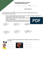 Examen Grado 4 Español