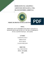 Perfil de Proyecto Sendero Ecologico-Final