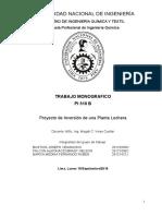 3er Avance Proyecto de Inversion Planta Lechera