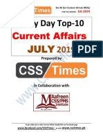 Day by Day Current Affairs for the Month of July 2019