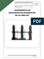 Procedimiento de Instalacion de Interruptor L-698