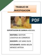 Exportación de Quinua
