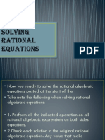 Solving Rational Equations New