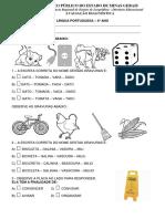 Avaliação Diagnóstica 4 Ano de Português Em PDF