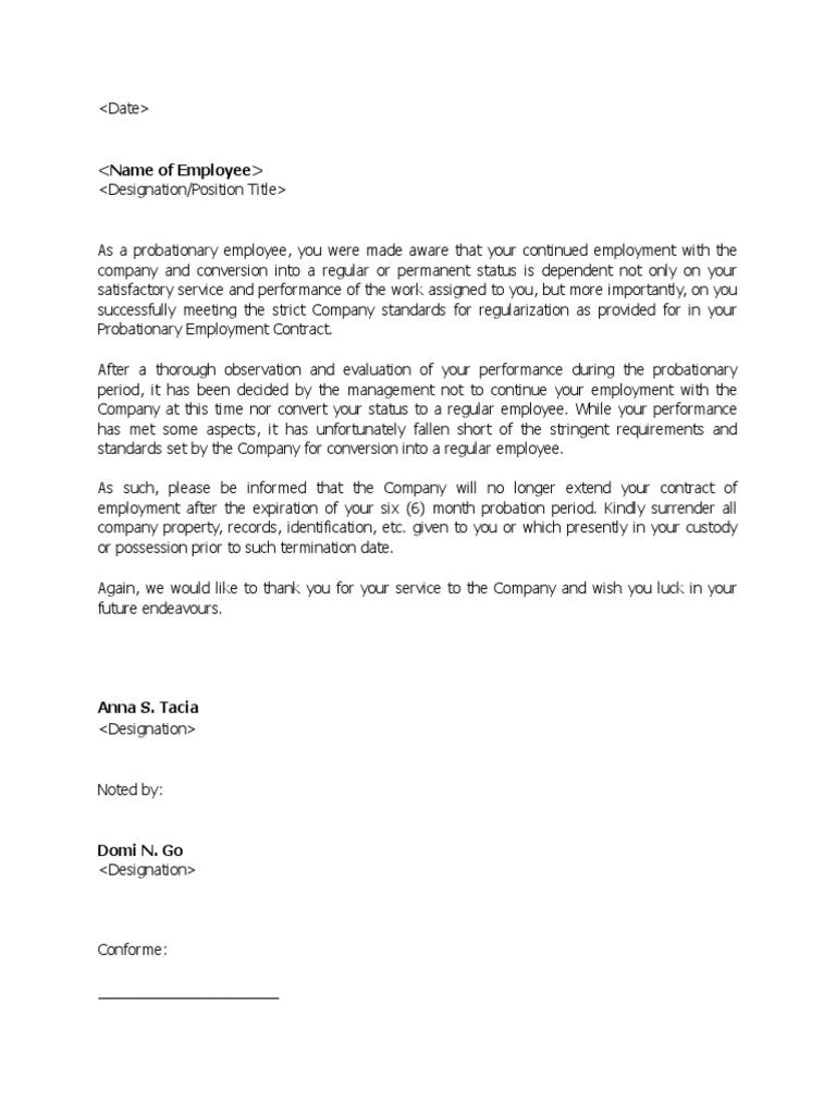 No Longer Employed Letter Sample from imgv2-2-f.scribdassets.com