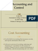 Cost Accounting and Control