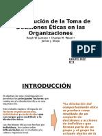LA DISOLUCION ETICA EN LAS ORGANIZACIONES