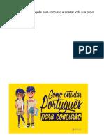 Como estudar Português para concurso