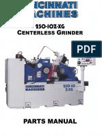 Manual Cincinnati 230 10Z XG Parts