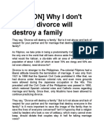 OPINION Divorce will destroy family.doc