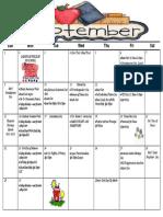 parent calendar - september 2019