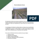 Desarrollo Plan de Fertilización Del Maíz