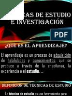 4. Técnicas de Estudio e Investigación Proyeccion