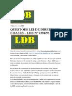 15 Questões Sobre LDB