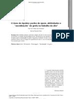 O Asno de Apuleio - pontos de apoio, afetividades e sacralização do gesto no trabalho do ator - Prof.º Dr.º Milton de Andrade