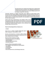 Physical and Psychological Effects of Substance Use