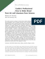 Falkoff Carlo Emilio Gadda's Professional Alchemy