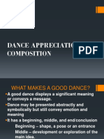 Dance Appreciation and Composition