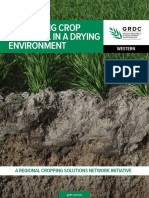 Maximising Crop Potential in a Drying Environment Western