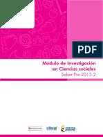 Guia de Orientacion Modulo de Investigacion en Ciencias Sociales Saber Pro 2015 2