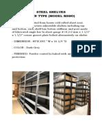 Open Shelves - Specs
