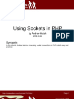 Using Sockets in PHP