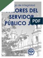 VALORES DEL SERVIDOR PUBLICO JCC