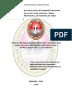 Metodologia proceso de perforación y voladura
