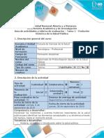 Guía de actividades y rúbrica de evaluación - Tarea 1 - Evolución histórica de la Salud Pública