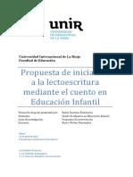 Propuesta para iniciar la lectoescritura mediante el cuento en Educación Infantil