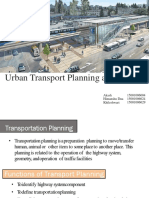 Urban Transport Planning and Policies