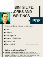 1 Mabini's Life, Works and Writings