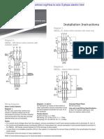 3 Phase Motor Starter Wiring
