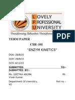 Enzym Kinetics