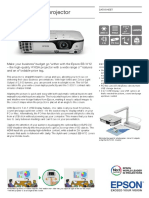 Epson EB-W12 Projector Datasheet