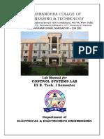 Control Systems Lab Manual