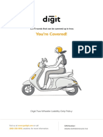 Digit Two-Wheeler Liability Only Policy