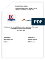 Report on home loan schemes provided by HDFC vs icici bank