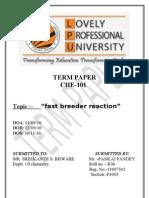 Fasr Breeder Reation