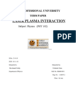 Laser Plasma Interaction