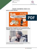 """""""Social e smartphone, siamo a un punto di non ritorno"""" - Ravenna e dintorni.it, 21 settembre 2019"""