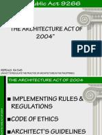 Bldg. Laws - Ra 9266